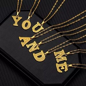 Jewelry - Gold Letter Necklace Stainless Steel A-Z Alphabet
